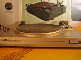 ein Vinylplattenabspielgerät